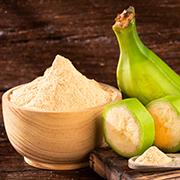 Zelená banánová múka